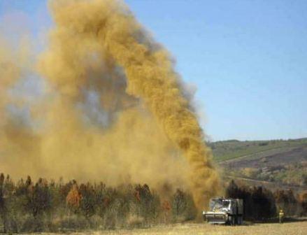 Dirt throwing machine