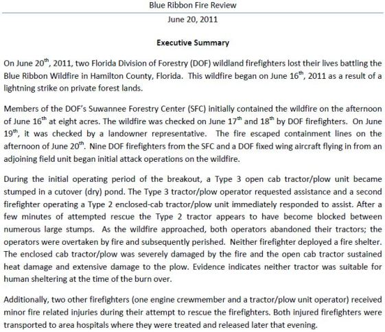 Report Released On Fatal Florida Tractor Plow Incident  Wildfire