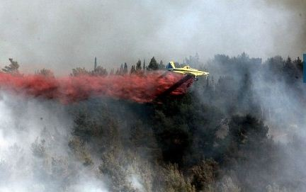 Israel fire air tanker
