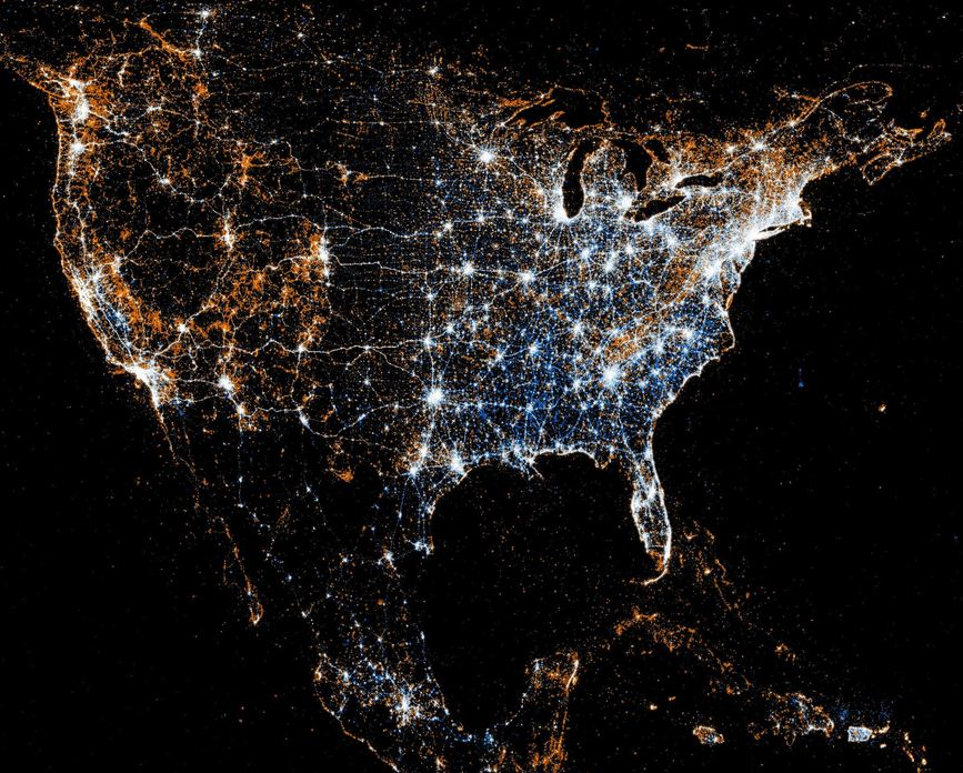 Lights of Night for Twitter Users