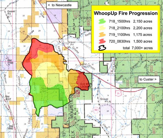 Hills Fire Map.Whoopup Fire Progression Map July 20 2011 Wildfire Today