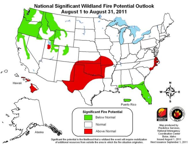 August monthly wildfire outlook