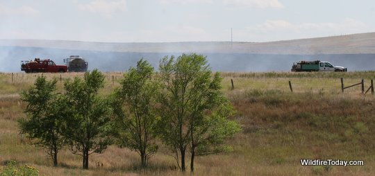 Fire south of Angostura reservior