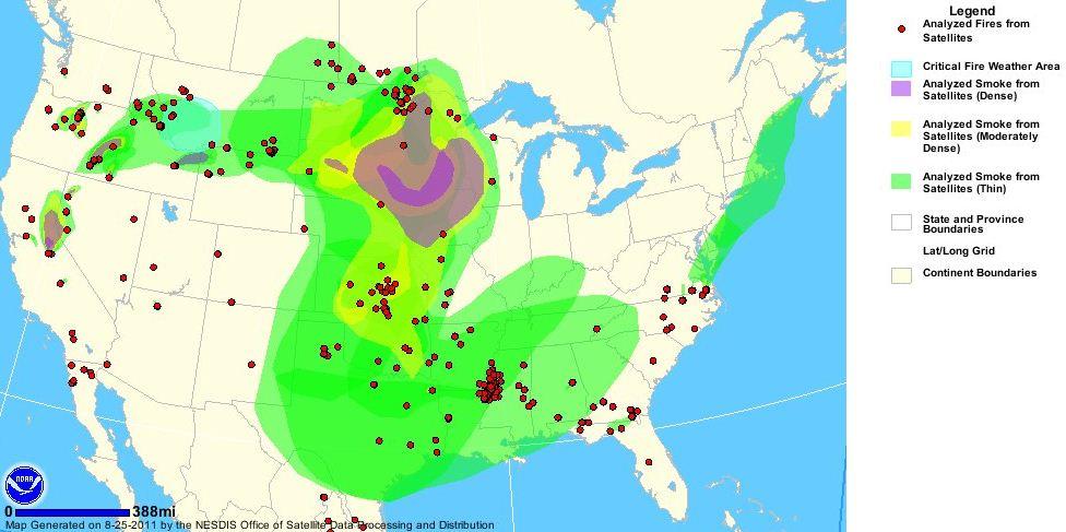 Wildfire smoke map 2134 MT 8-25-2011