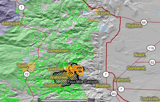 Fourmile fire_map_MODIS_0418_9-8-2010