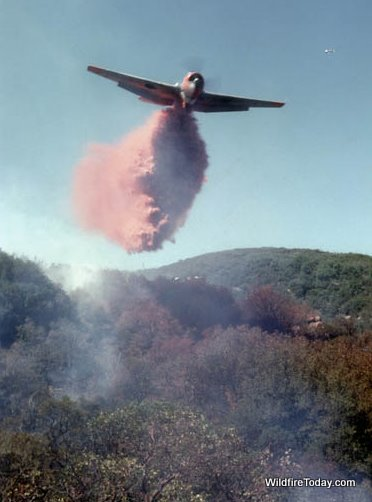 TBM air tanker dropping Vista fire