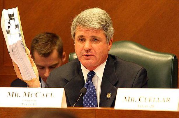 US Representative Michael McCaul at committee hearing