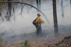 Smoke, fire-N-of-Cascade-Rd-2006