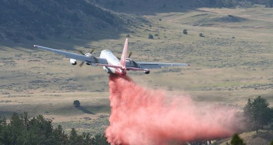 Air Tanker 45 on the Whoopup fire July 18, 2011