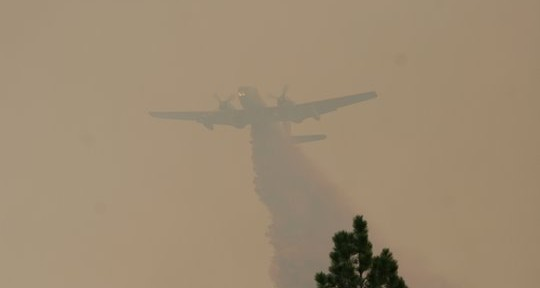 P2V air tanker on the Whoopup fire