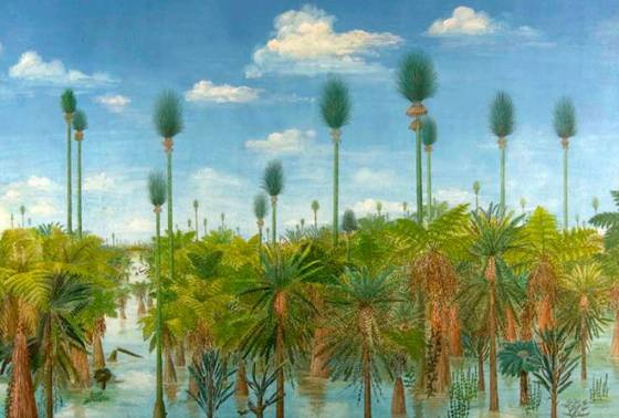 Reconstruction of 298 million year forest