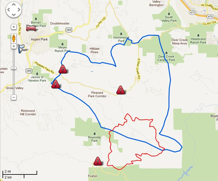 Map Lower North Fork Fire 2030 3-27-2012