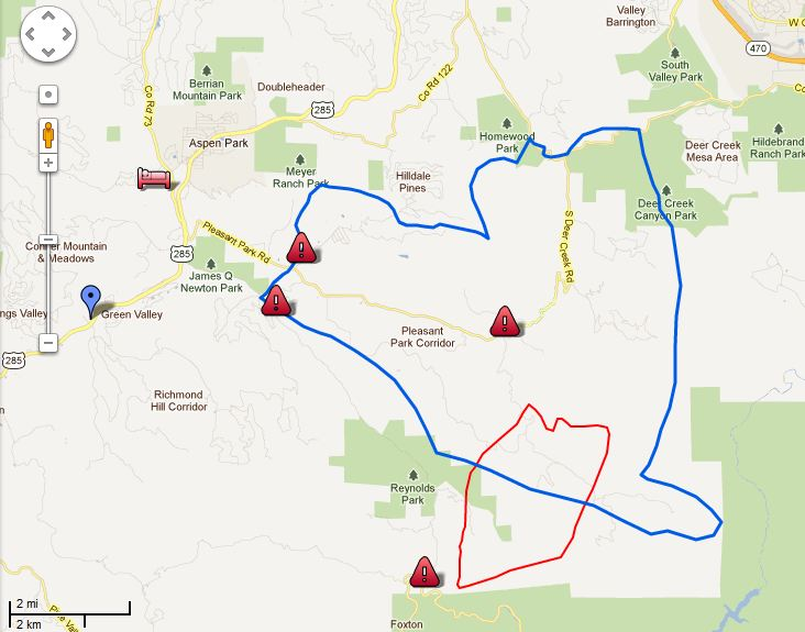 Map Lower North Fork Fire 220 pm 3-27-2012