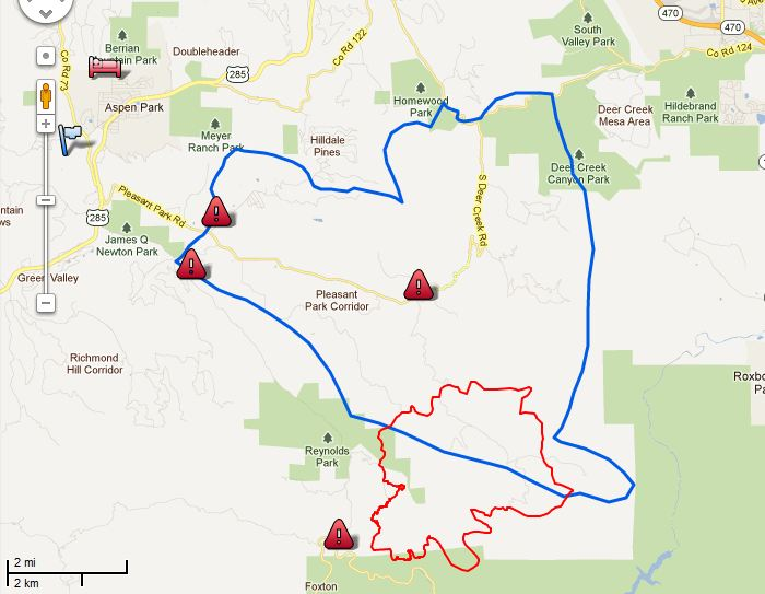 North New Mexico Map.Map Lower North Fork Fire 2139 3 28 2012 Wildfire Today
