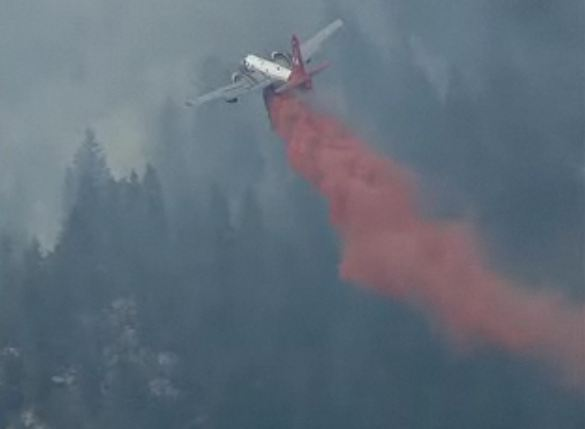 Air Tanker 44 drop 312 pm 3-27-2012