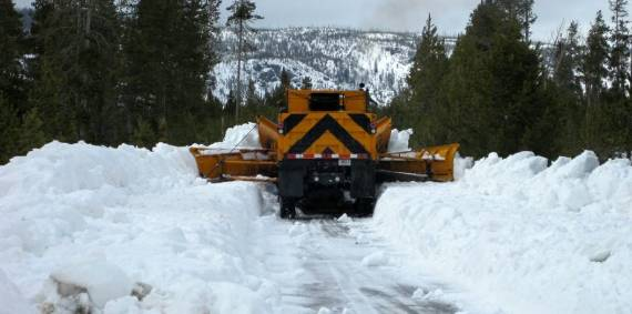 Yellowstone National Park snow plowing