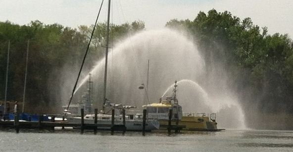 Fire Boats at marina fire