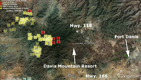 Map Jeff Davis County fire 4-30-2012