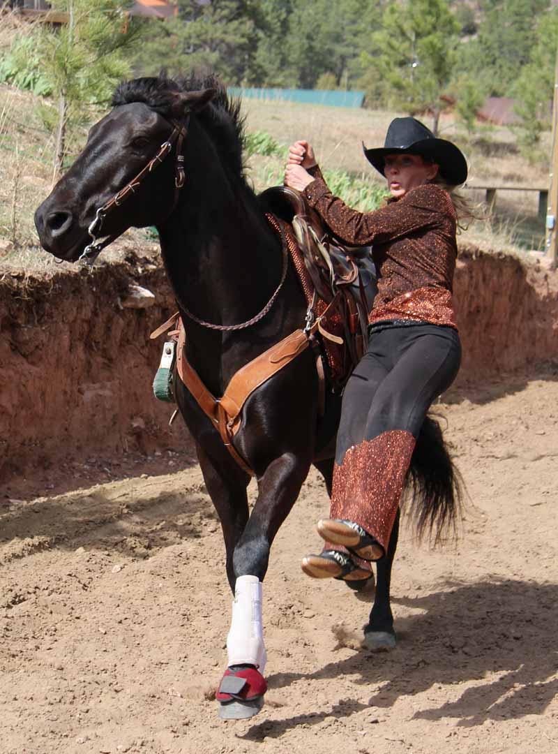 Trick Riding, vaulting
