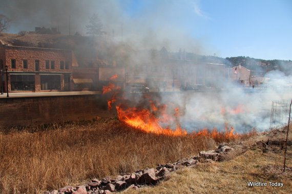 Fall River Prescribed fire, during