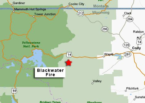 Blackwater fire vicinity map