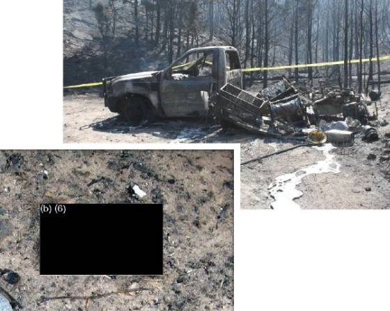 Coal Canyon fire entrapment report, cover photos