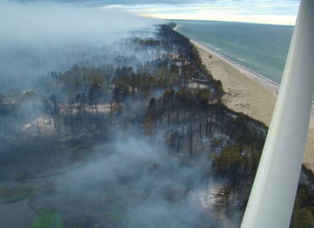 Duck Lake Fire, May 25, 2012. Michigan DNR photo