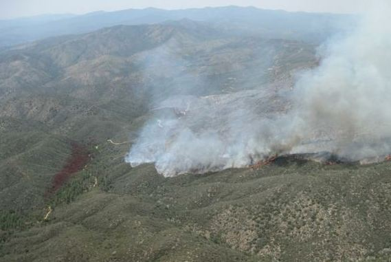 Gladiator fire, May 21, southwest side, photo by Stewart Turner