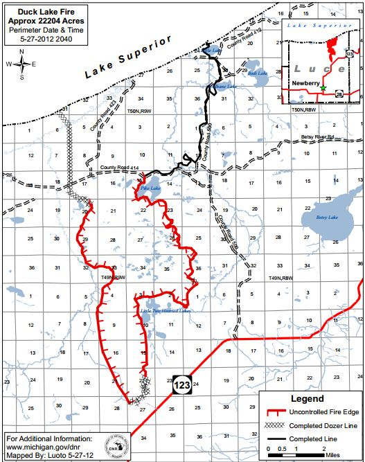 Map Of Duck Lake Fire Pm May Wildfire Today - Duck lake map