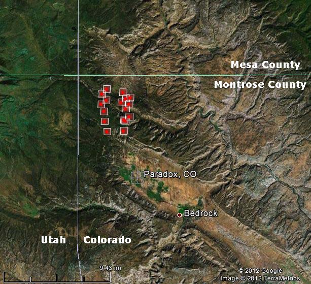 Map of Sunrise Mine Fire, 1149 p.m. MDT, May 25, 2012