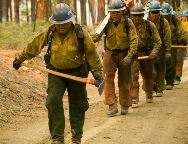 May 20 - Firefighters headed to the fireline
