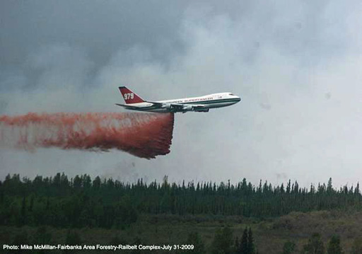 747 drop Railbelt fire