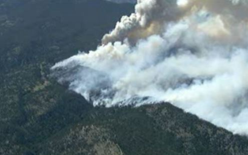 High Park fire, aerial video capture from CBS, 3:28 p.m. MT, June 9, 2012