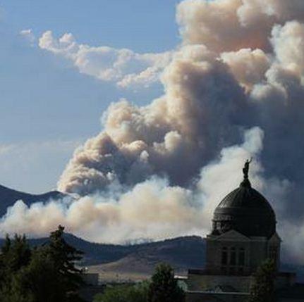 Fire Near Mountain Home Idaho
