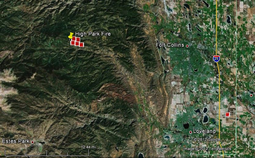 High Park Fire Map.Map Of High Park Fire 12 01 P M Mt June 9 2012 Wildfire Today