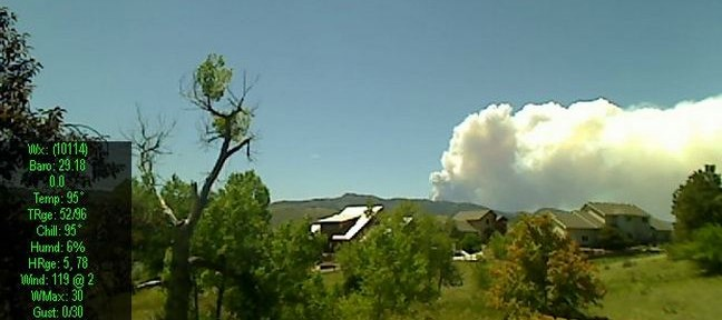 Fire west of Fort Collins causing evacuations