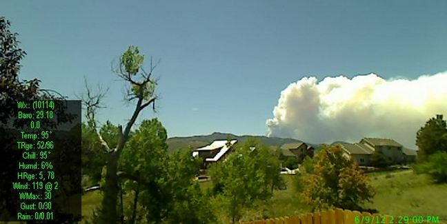High Park fire, markholbrook cam, 229, June 9, 2012