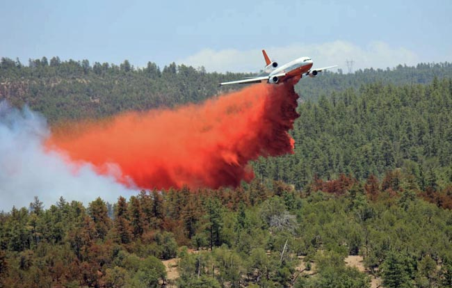 Tanker 911 dropping Poco Fire