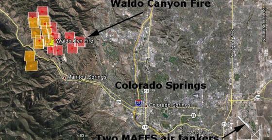 Waldo Canyon Fire, Colorado Springs