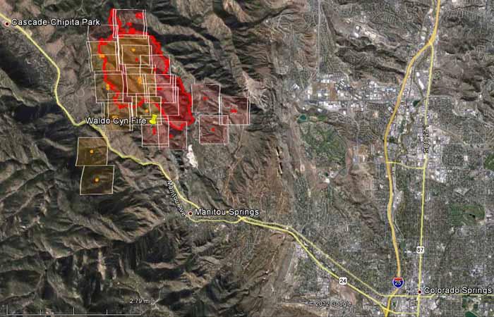 Map - Waldo fire