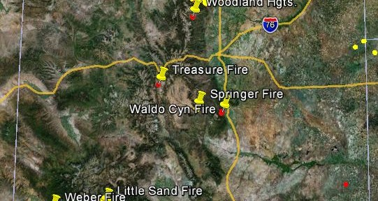 Firefighters in Colorado are working 8 large wildfires