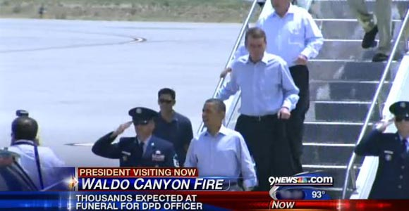 President's Arrival at Colorado Springs