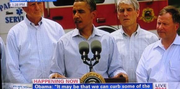 President Obama visits the Waldo Canyon fire