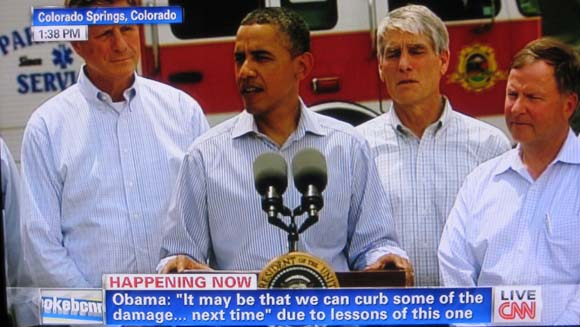 President's statement at Waldo Canyon fire