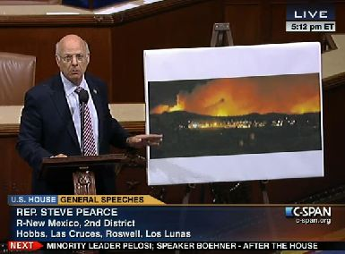 Representative Steve Pearce blasts the Forest Service and the management of the Little Bear fire