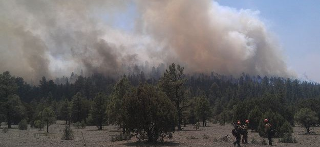 The Guardian writes about budget cuts and the Whitewater-Baldy fire