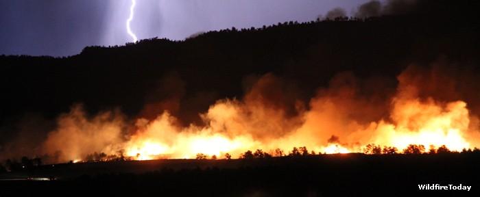 Fire near Cascade, South Dakota