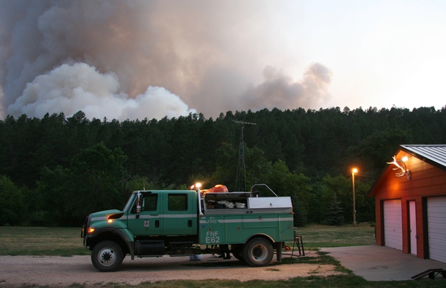 Myrtle Fire, Flathead NF Engine