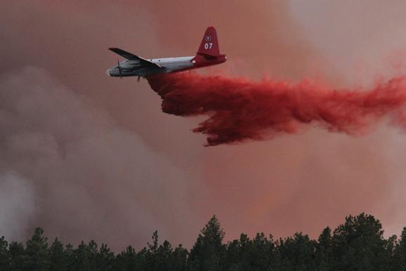Myrtle Fire air tanker drop