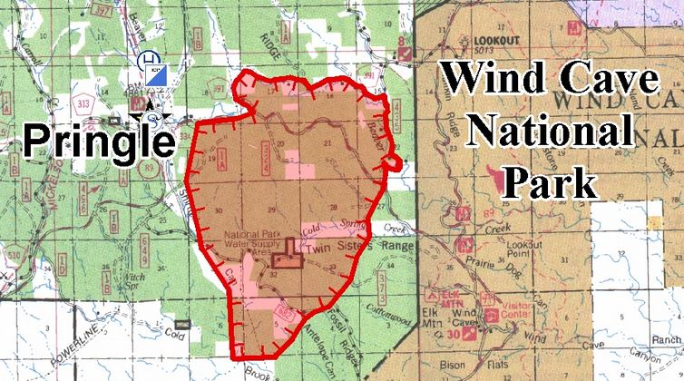 Myrtle Fire map at 200 am, June 20, 2012